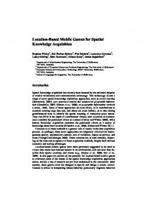 Location-Based Mobile Games for Spatial ... - Semantic Scholar