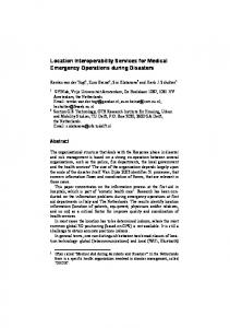 Location Interoperability Services for Medical Emergency Operations ...