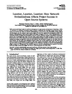 Location, Location, Location: How Network Embeddedness Affects ...