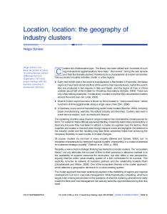 Location, location: the geography of industry clusters