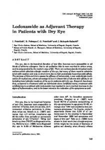 Lodoxamide as Adjuvant Therapy in Patients with ... - Semantic Scholar