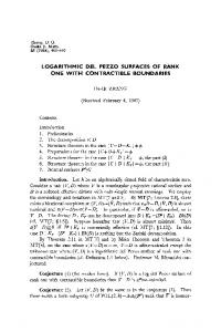 logarithmic del pezzo surfaces of rank one with contractible ... - Core