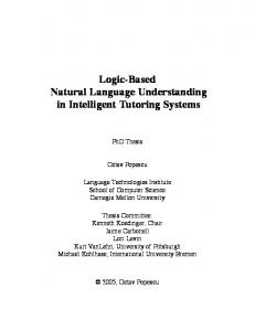 Logic-Based Natural Language Understanding in Intelligent Tutoring