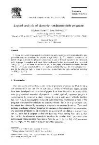 Logical analysis of demonic nondeterministic programs - ScienceDirect
