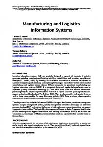 Logistics Information Systems