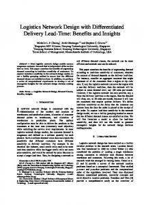 Logistics Network Design with Differentiated Delivery Lead-Time ...