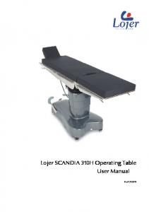 Lojer SCANDIA 310H Operating Table Operating Table Operating ...