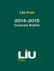 Long Island University C.W. Post Campus Bulletin