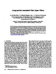Long-period cascaded fiber taper filters - OSA Publishing
