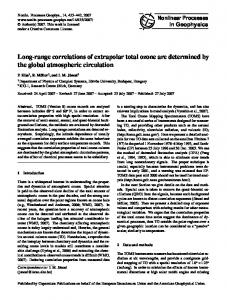 Long-range correlations of extrapolar total ozone are determined by ...