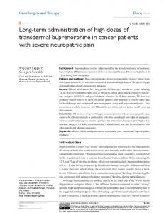 Long-term administration of high doses of ... - Semantic Scholar