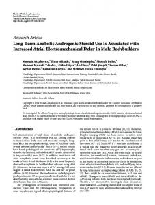 Long-Term Anabolic Androgenic Steroid Use Is Associated with ...