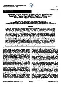 Long-term Effect of Chemical Fertilizers and Soil Amendments on ...