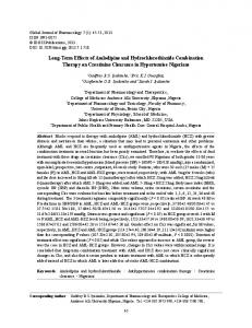 Long-Term Effects of Amlodipine and ... - Semantic Scholar