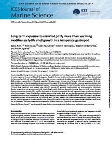 Long-term exposure to elevated pCO2 more than warming ... - Core