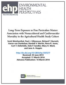 Long-Term Exposure to Fine Particulate Matter - Environmental Health ...