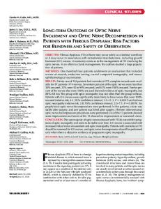 Long Term Outcome and Decompression in FD - Fibrous Dysplasia ...