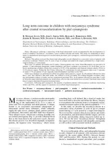 Long-term outcome in children with moyamoya syndrome after cranial ...