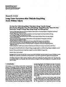 Long-Term Outcomes after Dialysis-Requiring Acute Kidney Injury