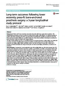 Long-term outcomes following lower extremity ... - Semantic Scholar