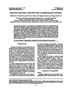 Long-Term Preservation of Rat Skin Tissue by ... - SAGE Journals