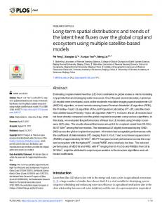 Long-term spatial distributions and trends of the ... - Semantic Scholar
