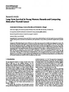 Long-Term Survival in Young Women: Hazards and Competing Risks ...