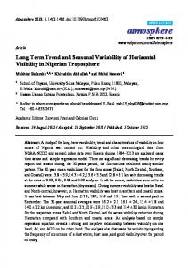 Long-Term Trend and Seasonal Variability of