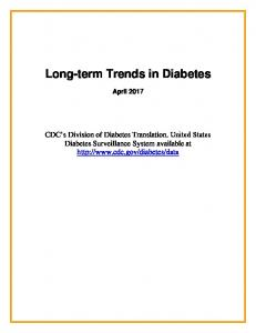 Long-Term Trends in Diagnosed Diabetes