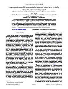 Long-wavelength nonequilibrium concentration fluctuations induced ...