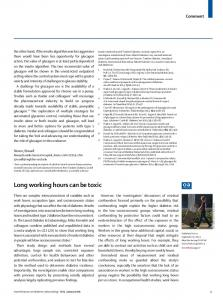 Long working hours can be toxic - The Lancet