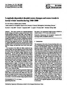 Longitude-dependent decadal ozone changes and ozone trends in ...