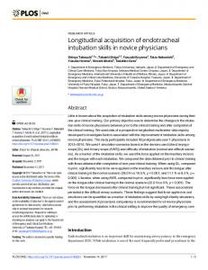Longitudinal acquisition of endotracheal intubation ... - Semantic Scholar
