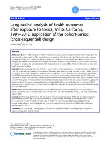 Longitudinal analysis of health outcomes after exposure to ... - Core