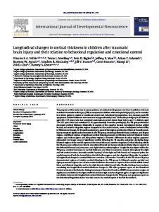 Longitudinal changes in cortical thickness in children after traumatic ...