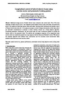 Longitudinal control of hybrid electric buses using traction motor and ...