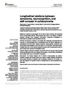 Longitudinal relations between symptoms, neurocognition, and ... - Core