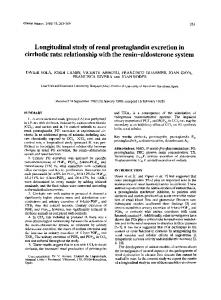 Longitudinal study of renal prostaglandin excretion ... - Clinical Science