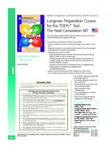 Longman Preparation Course for the TOEFL® Test - Pearson ...