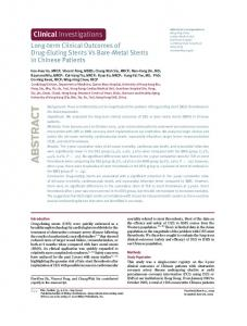 Longterm Clinical Outcomes of DrugEluting ... - Wiley Online Library