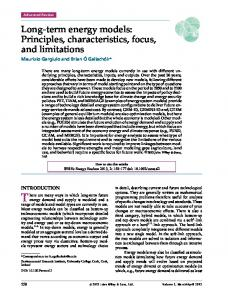 Longterm energy models: Principles ... - Wiley Online Library