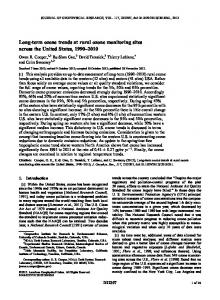 Longterm ozone trends at rural ozone monitoring sites across the ...