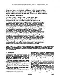 Longterm record of atmospheric CO2 and stable ... - Wiley Online Library