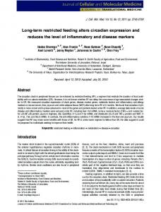 Longterm restricted feeding alters circadian expression ... - CiteSeerX