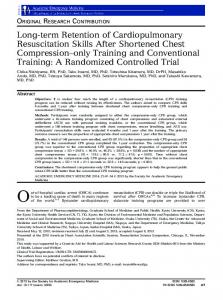 Longterm Retention of Cardiopulmonary ... - Wiley Online Library