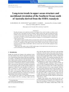 Longterm trends in upper ocean structure and ... - Wiley Online Library
