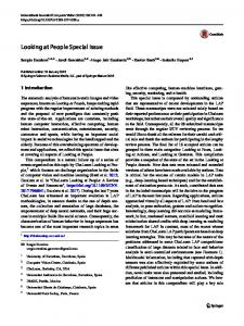 Looking at People Special Issue - Springer Link