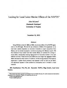 Looking for Local Labor-Market Effects of the NAFTA - freit