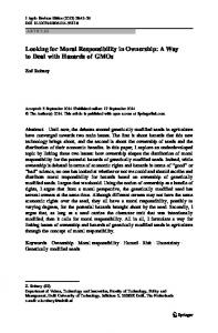 Looking for Moral Responsibility in Ownership: A Way ... - Springer Link