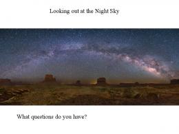 Looking out at the Night Sky What questions do you have?